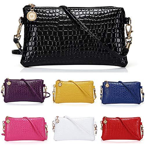 Women Faux Leather Zipper Clutch Mini Cross Body Shoulder Bag Phone Bag by Shengyuze (Image #3)