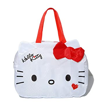 Amazon.com   YOURNELO Girl s Pretty Hello Kitty Excursion Handbag Shoulder  Tote Travel Luggage Bag (New Kitty)   Travel Duffels e31ee5e45d