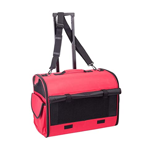 Bolsa de mascotas Carrito para mascotas Carrier Case Plegable Pet Carrier Mochila Luxury Travel Pet Bag