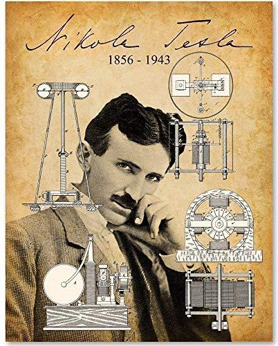 (Nikola Tesla Portrait - 11x14 Unframed Art Print)