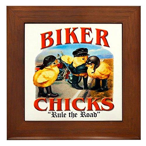 Framed Tile Biker Chicks Women Girls Rule - Chicks Framed