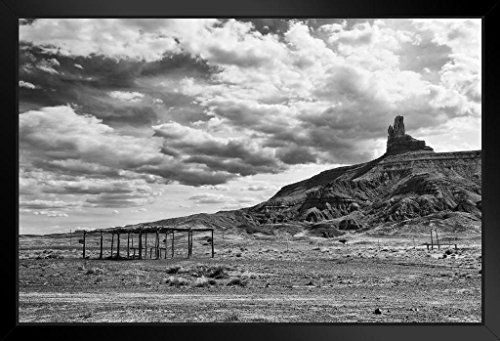 Owl Rock Monument Valley Navajo Reservation B&W Photo Art Print Framed Poster 20x14 inch