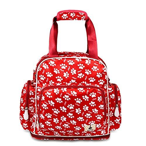 Bolso de la momia, bolso de múltiples funciones de la madre de los hombros de la capacidad grande, bolsos maternos e infantiles, van la mochila, mamás de la manera mujeres embarazadas ( Color : Rojo o Rojo
