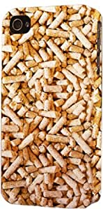 Wood Pellets Pattern Dimensional Case Fits Apple iPhone 5 or iPhone 5s