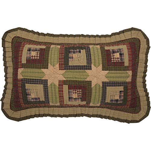 VHC Brands Rustic & Lodge Bedding - Tea Cabin Green Sham, King