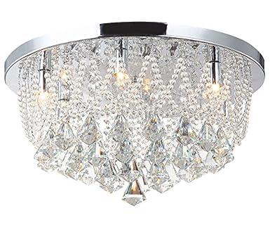 Kronleuchter Deckenlampe ~ Led deckenlampe glas kristall strass kronleuchter lüster