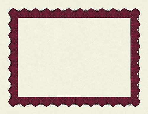 Great Papers! Metallic Red Border Certificate, 8.5
