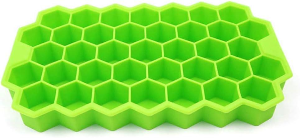 HTL Food Grade Mold Silicone Honeycomb Modeling Cake Chocolate Mold Ice Tray Cube Bee Honey Ice Maker Mold Kitchen DIY Baking Tools Choice: Random Colors