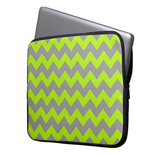 """Lacdo Chevron 15-15.4"""" Waterproof Laptop Soft Sleeve Bag Carrying Case Protector Cover Shockproof for MacBook Pro 15.4-Inch Laptop with Retina Display / HP / Dell / Acer / Asus / Lenovo / Toshiba / Notebook Computer Tablets,Grey-Green"""