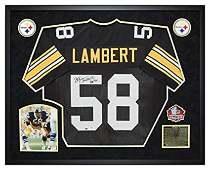 Jack Lambert Custom Framed Pittsburgh Steelers Autographed Signed Jersey -  PSA DNA Certified acb7ab207