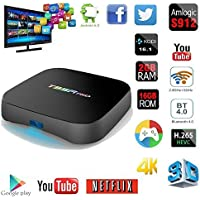 MaQue Android TV Box T95R PRO Android 6.0 Smart TV Box Octa Core Amlogic S912 Dual Band WiFi BT4.0 UHD 4K H.265 IPTV 3D Player RAM 2G ROM 16G