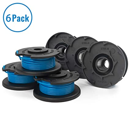 """X Home Weed Eater String Spools Compatible with Ryobi One+ 18-Volt 24V 40V  Edger Trimmer Replacement Spool Line Parts 11ft 0 065"""" Auto-feed Cordless"""