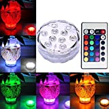 Remote Control Colour Changing Submersible LED Pond Lights Battery Powered Waterproof for Vase, Christmas Decorations, Wedding, Pa