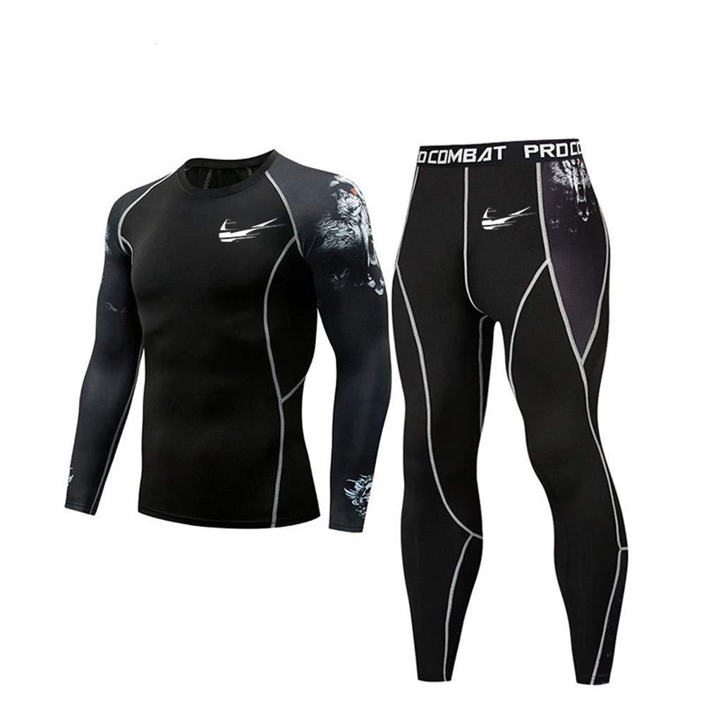 Herren T-Shirt Hose Set 2019 New Outdoor Sport Set schnell trocknend atmungsaktiv Sport Fitness Laufbekleidung - Bambusfaser