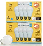 Lighting Science 8-pack Dimmable LED Bulbs 40W Equivalent - Cool White