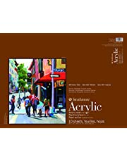 """Strathmore 400 Series Acrylic Pad, Linen Finish, 18""""x24"""" Glue Bound, 10 Sheets"""