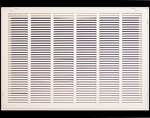 """30"""" X 30"""" Steel Return Air Filter Grille for 1"""" Filter - Removable Face/Door - HVAC Duct Cover - Flat"""" Stamped Face - White [Outer Dimensions: 32.5 X 31.75]"""