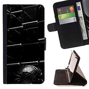 For HTC One M7 - Abstract Cube /Funda de piel cubierta de la carpeta Foilo con cierre magn???¡¯????tico/ - Super Marley Shop -