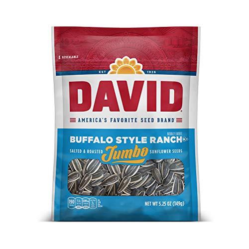 DAVID Roasted and Salted Buffalo Style Ranch Jumbo Sunflower Seeds, 5.25 oz ()