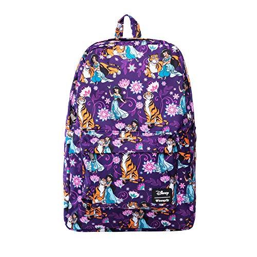 Loungefly Disney's Aladdin- Jasmine and Rajah Print Backpack Standard