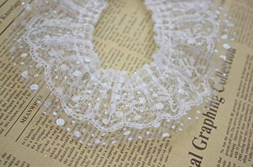 - Lace Diy - 6cm 25m Double Layer Pleated Lace Trim Wedding Decoration Diy Crafts - Tops Decorative Pillows Patchwork Blouses Long Hollow Band Crafts Wrappers Plain Fabric Paper Leggings Slee