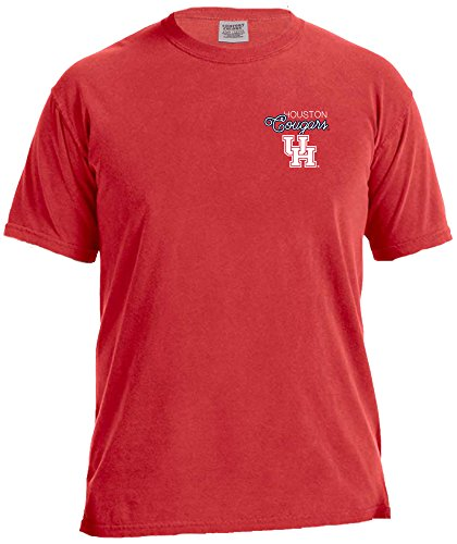 NCAA Houston Cougars Women's Laces & Bows Color Short Sleeve T-Shirt, Large,Red