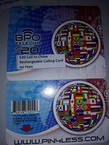 $20 Call to China Rechargeable International Calling Card No Hidden Fees