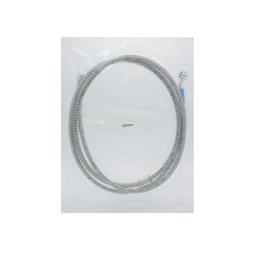 SYUU 1800mm 180cm M10 Reinforced Hydraulic Brake Oil Hose Line Banjo Fitting Stainless Steel End Braided Cable For Motorcycle Pit Dirt Bike Enduro Motocross Street Bikes Sport Bikes