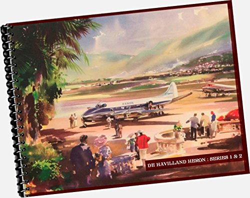 Heron Series 1 + 2 Brochure by De Havilland Aircraft Company, ltd. 1953 Aircraft Catalogue (REPLICA trade / samples catalog, shows airplane models, specs, options, layout, floor plans, designs, attributes, travel comfort etc) -