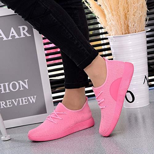 Schuhe Schuh Mesh Farbe Freizeitschuhe Rosa Breathable Woven OYSOHE Flying Damen Student Candy pWYzqIvx5g