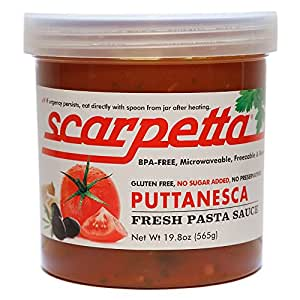 Scarpetta Puttanesca Sauce, 19.8-Ounce Jars (Pack of 4)