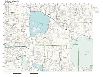 Zip Code Wall Map Of Elk Grove Village Il Zip Code Map Not