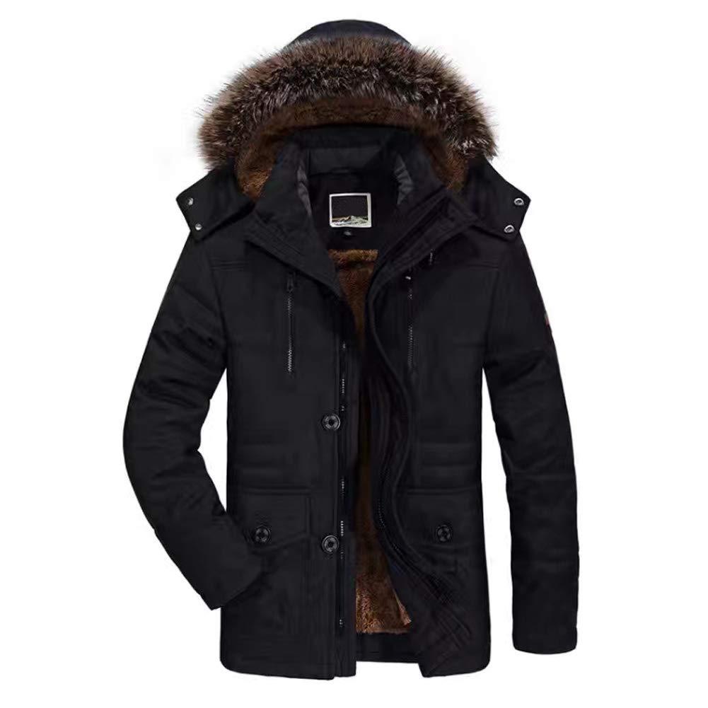 WANPUL Giubbotto Parka Uomo Giacca Parka Caldo Giacca Cappotto Invernale con Cappuccio Antivento Casual Giacche