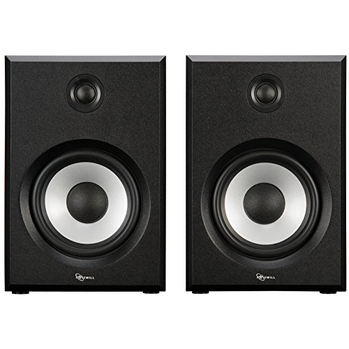 ROSEWILL Bluetooth Computer Speaker System for Laptop, Smartphone, Tablet and Multiple Devices. 2.0 Active Near Field Monitor, Studio Monitor Speaker, Wooden Enclosure. Best Wireless Bookshelf Speaker by Rosewill (Image #1)