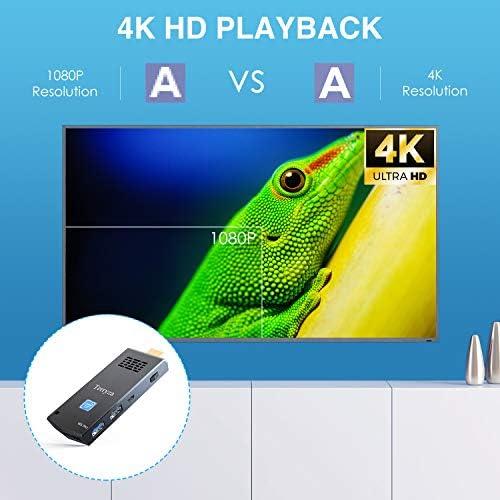Computer Stick Intel Atom Z8350 Mini PC Stick 8GB DDR3/120GB eMMC Windows 10 Pro 64bit, Dual Band WiFi 2.4/5G,4K HD, BT 4.2