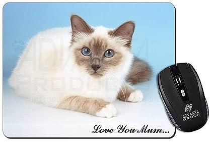 Gatto Sacro Di Birmania Love You Mum Tappetino Mouse Del Computer