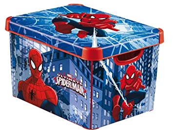 Captivating Curver Deco Marvel Spiderman Storage Box 22L
