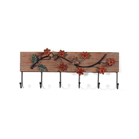 Amazon.com: SX-ZJ - Perchero de madera estilo rústico para ...