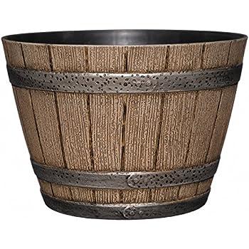Amazon Com Whiskey Barrel Planter Distressed Oak 9
