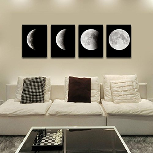 Transer Modern Artwork Wall Art Painting Canvas Painting Wall Paintings Decorative Paintings For Living Room Bedroom - 11.81 x 15.75 inch - 4PCS (Multicolor)