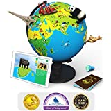 Shifu Orboot (App Based): The Educational, Augmented Reality Based Globe   STEM Toy for Boys & Girls Age 4 to 10 Years   Learning Toy Gift for Kids (No Borders or Names on Globe)