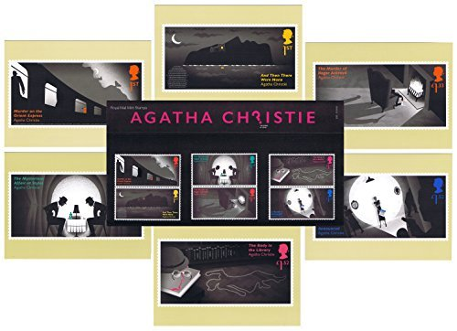 Gift Set of 2016 Agatha Christie - The Queen of Crime Presentation Pack and PHQ Cards (Set of 6 Royal Mail Postcards) by Royal Mail Presentation Pack and PHQ Cards