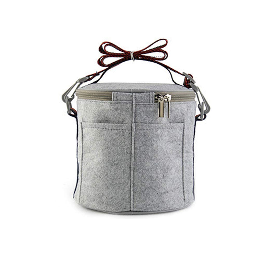 Portable Round Stainless Steel Interior Lunchbox Stackable Leakproof Insulated Bento Box 1/2/3 layer Detachable Regard Regard Natral
