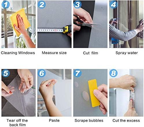 LIfe Tree Película Pegatina Electroestática de Vinilo PVC para Privacidad de Ventanas y Cristal Efecto Vidrio Mateado Esmerilado al Ácido: Amazon.es: Hogar