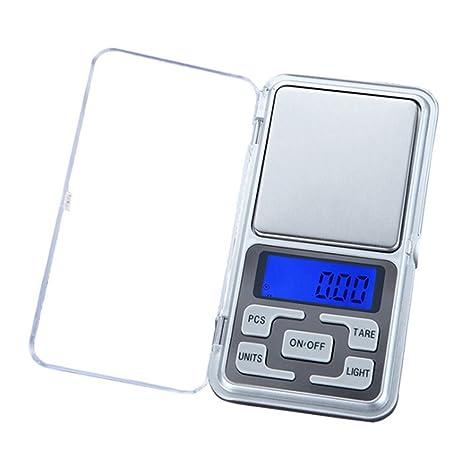 Wildlead Mini Precision Digital Electrónica Báscula portátil Peso LCD gramos joyas Cocina Herramientas, 100g/