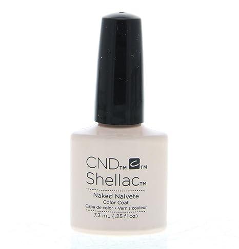 CND Shellac Esmalte de Uñas de Gel, Tono Naked Naivete
