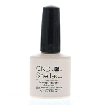 Amazon Cnd Shellac Nail Polish Naked Naivete 012 Lb Luxury