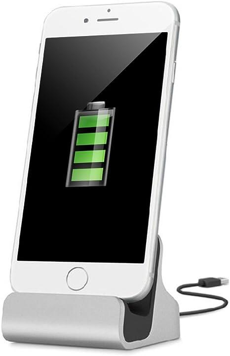 YooGoal Dockingstation Ladestation für das Apple iPhone Dock Station mit Kabel Ladegerät für 7, 7 Plus, 6s, 6, 6 Plus, 6s Plus, 5, 5s, 5c, SE,