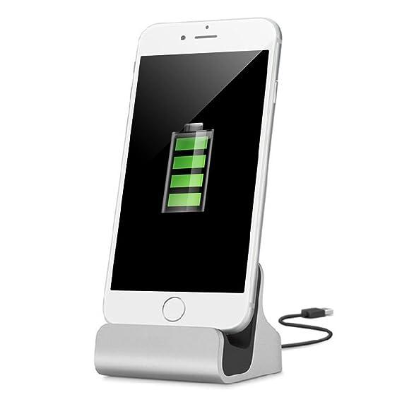 YooGoal Dockingstation Ladestation für Das Apple iPhone - Dock Station mit Kabel - Ladegerät für 7, 7 Plus, 6s, 6, 6 Plus, 6s