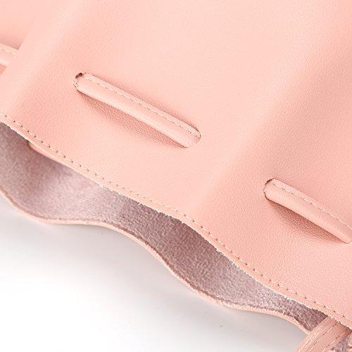 Bags Bag Pink Drawstring PU Handbags Leather for Bags Purse Bag Crossbody Bucket Women Shoulder dOCxwCnq